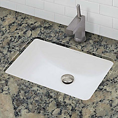 Callensia Rectangular Biscuit Vitreous China Undermount Lavatory with Overflow