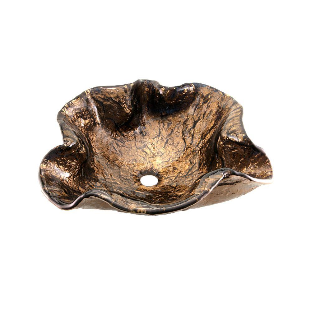 JSG Oceana Cobalt Copper Alina Art Vessel