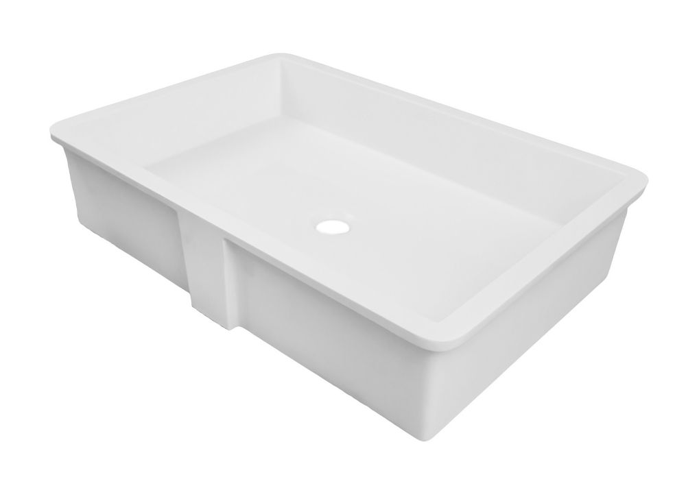 Decolav Saidi Solid Surface Rectangular Undermount Lavatory