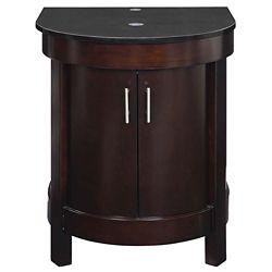 Decolav Haddington Collection Espresso Vanity with Black Granite Top