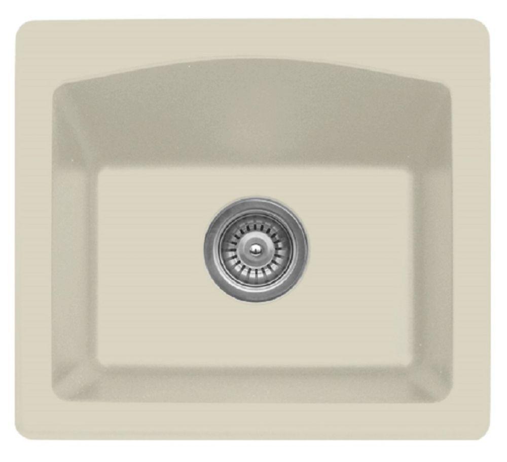 Karran Quartz 18 inch Bar/ Prep Sink in Bisque