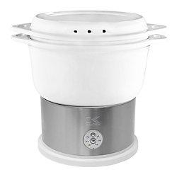 Kalorik White Ceramic Steamer with Steaming Rack