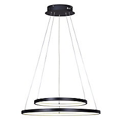 Cosmo LED matte black chandelier