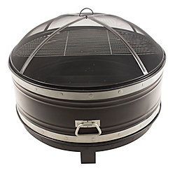 Pleasant Hearth Colossal 36 inch black with cooking grid