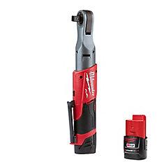 M12 FUEL 12V Li-Ion Brushless Cordless 1/2-InchRatchet Kit W/ (2) 2.0Ah Batteries, Charger & Tool Bag