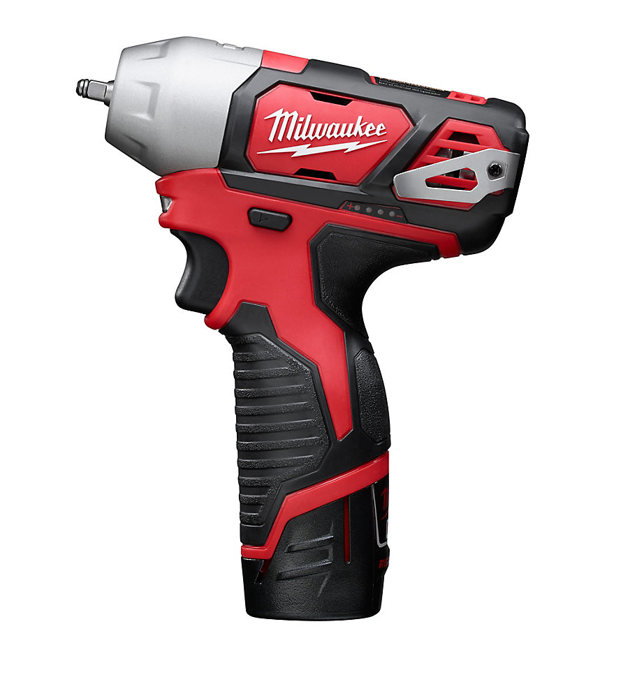 M12 12V Lithium-Ion Cordless 1/4-Inch Impact Wrench Kit W/ (2) 1.5Ah Batteries, Charger & Hard Case