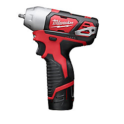 Milwaukee Tool M12 12V Lithium-Ion Cordless 1/4-Inch Impact Wrench Kit W/ (2) 1.5Ah Batteries, Charger & Hard Case