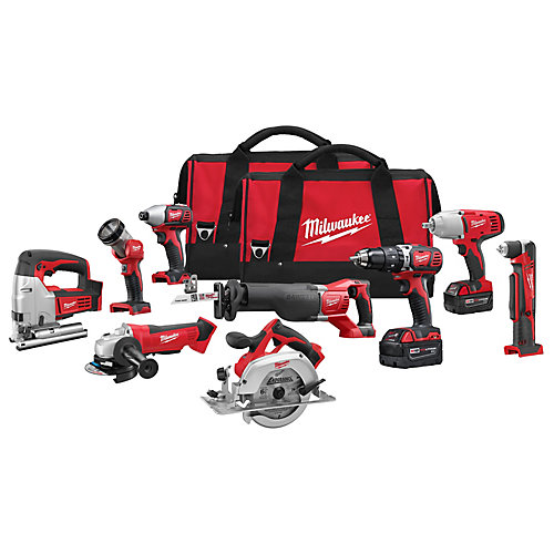 M18 18V Lithium-Ion Cordless Combo Tool Kit (9-Tool) with (2) 3.0 Ah Batteries & (2) Tool Bags