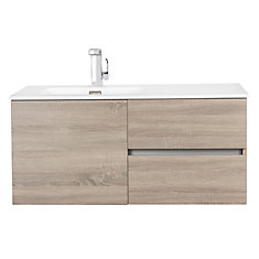 Beachwood Collection 42 inch Wall Mount Modern Bathroom Vanity - Dorato