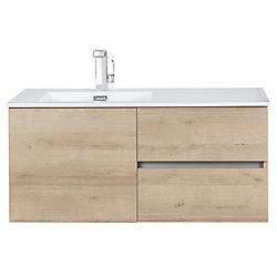 Cutler Kitchen & Bath Beachwood Collection 42 inch Wall Mount Modern Bathroom Vanity - Organic