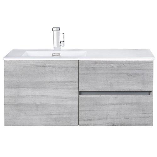 Beachwood Collection 42 inch Wall Mount Modern Bathroom Vanity - Soho