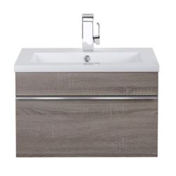Cutler Kitchen & Bath Trough Collection 24 inch Wall Mount Modern Bathroom Vanity - Dorato