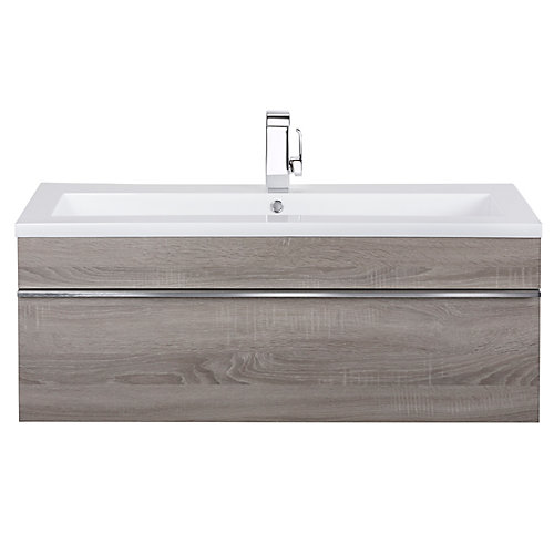 Trough Collection 42 inch Wall Mount Modern Bathroom Vanity - Dorato