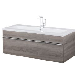 Cutler Kitchen & Bath Trough Collection 42 inch Wall Mount Modern Bathroom Vanity - Organic