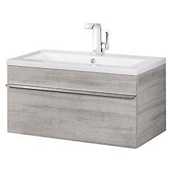 "Cutler Kitchen & Bath Trough Collection 30"" Wall Mount Modern Bathroom Vanity - Soho"