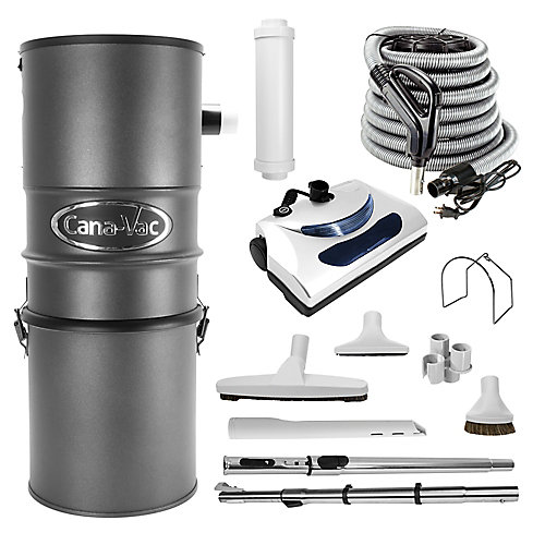 Powerful 600 Air Watt Electric Central Vacuum Cleaner Package