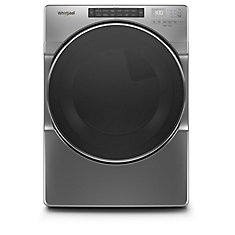 7.4 cu. ft. Front Load Gas Dryer with Steam in Chrome Shadow, Closet-Depth - ENERGY STAR®