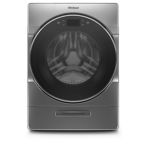 5.8 cu. ft. Smart Front Load Washer with Load & Go XL Plus in Chrome Shadow