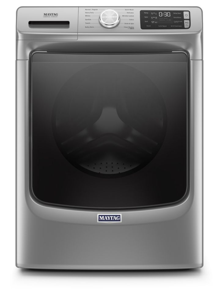 Maytag 5.5 cu. ft. Front Load Washer with Steam in Chrome Shadow - ENERGY STAR®