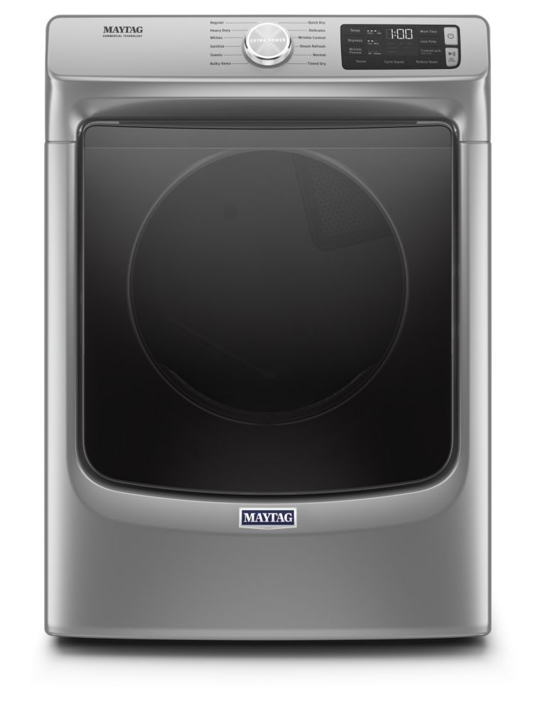 Maytag 7.4 cu. ft. Front Load Electric Dryer in Chrome Shadow - ENERGY STAR®