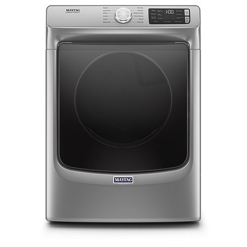 Maytag 7.3 cu. ft. Front Load Electric Dryer in Chrome Shadow - ENERGY STAR®