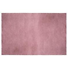 Carpette d'intérieur en fausse fourrure ultra douce 4 pi x 6 pi, couleur rose tendre
