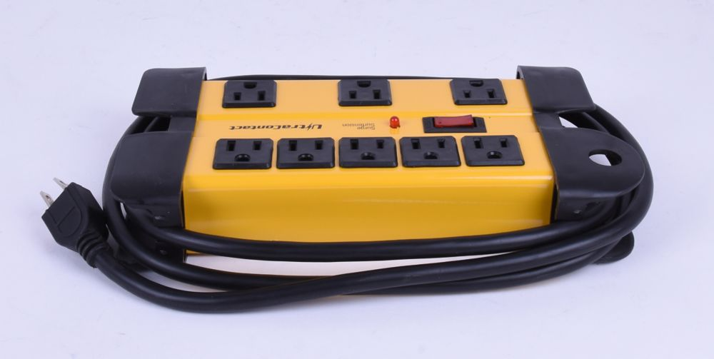 Power Bar with Surge Protector -  1050 Joules - 8 Outlets