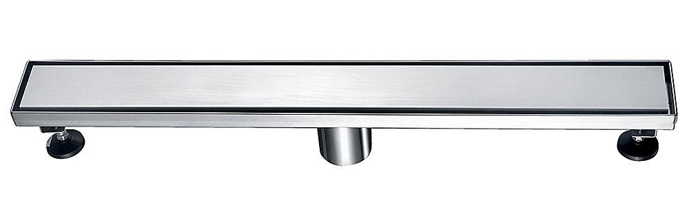 Linear Shower Drain Solid Grid, 24 inch.