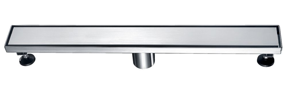 Luxury Drains Liner Shower Drain Solid Grid, 47 inch.