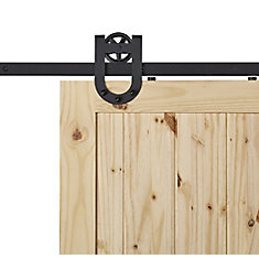 HORSESHOE Black Sliding Barn Door System
