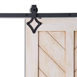 Colonial Elegance DIAMOND Black Sliding Barn Door System