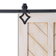 DIAMOND Black Sliding Barn Door System