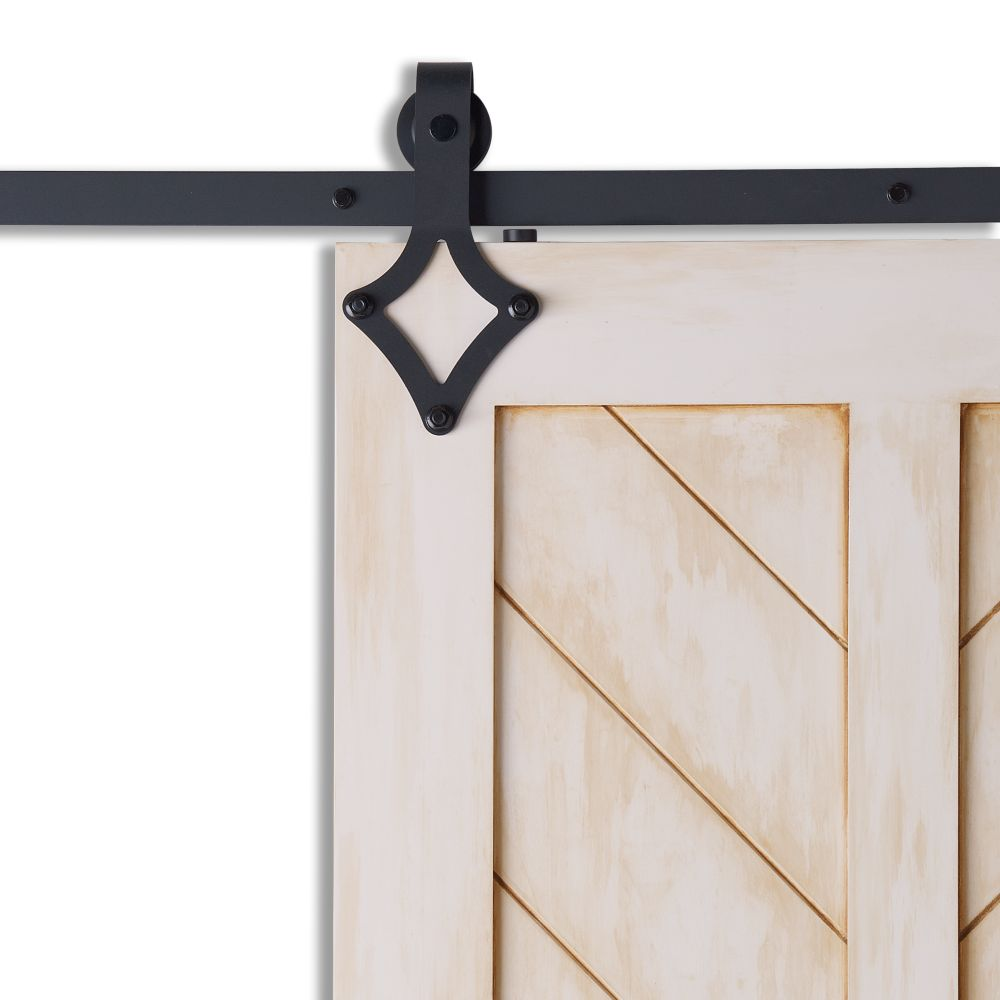Colonial Elegance DIAMOND Black Sliding Barn Door System