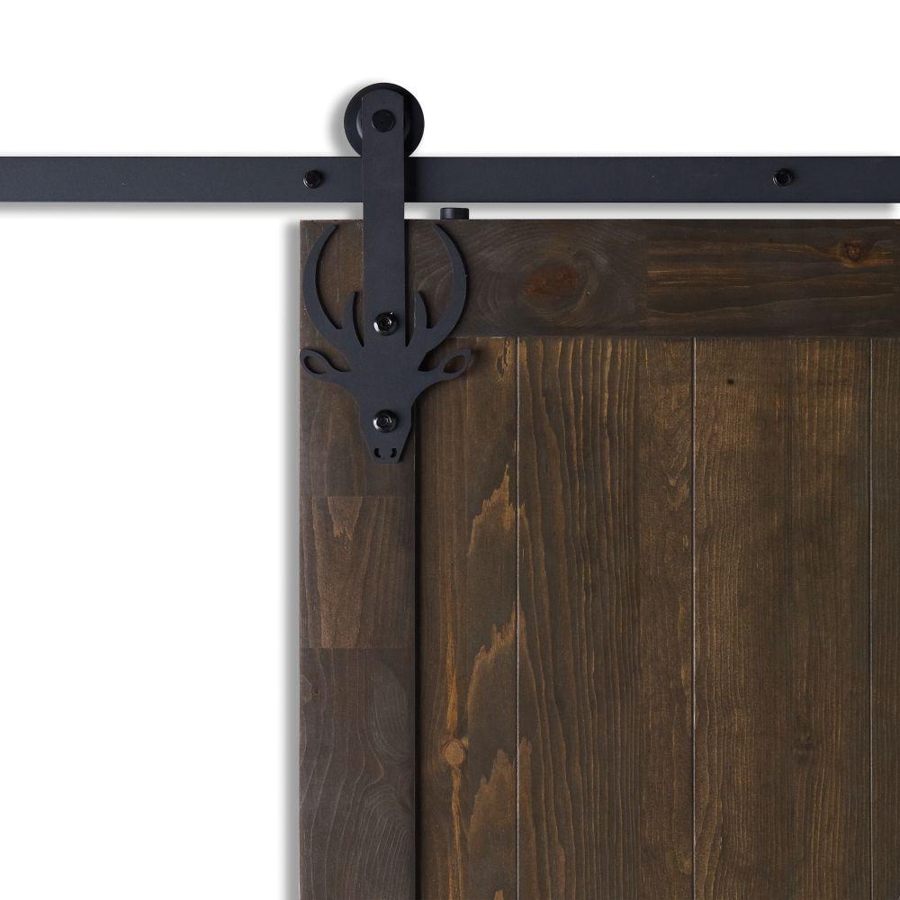 Colonial Elegance BOREAL Black Sliding Barn Door System
