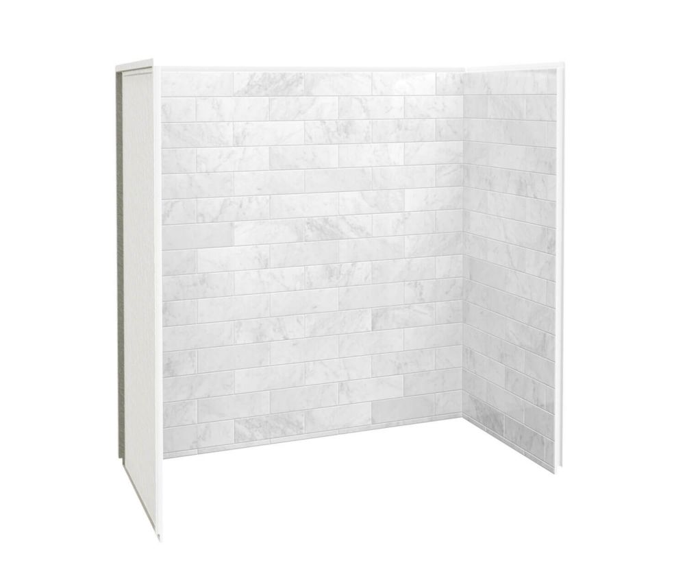Utile 30-inch X 60-inch Shower Wall Kit In Marble Carrara