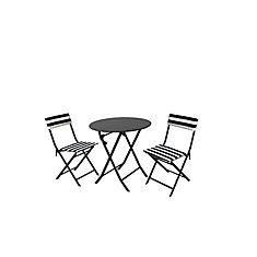 Follie Ensemble Bistro de 3 pieces avec coussins amovibles