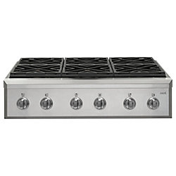 Café 36-inch Gas Cooktop in Stainless Steel with 6 Elements
