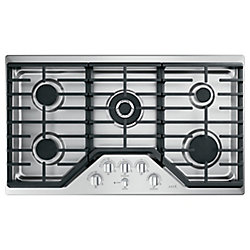 Café 36-inch Gas Cooktop in Stainless Steel with 5 Burners including 20,000 BTU Triple Burner