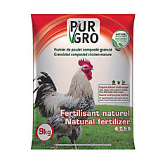 Granulated composted chicken Manure