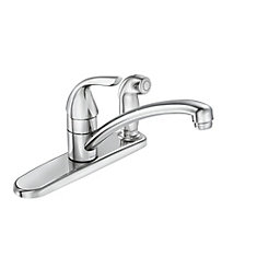 Adler Single-Handle Kitchen Faucet with Side-Spray - Chrome Finish