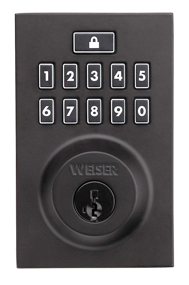Smartcode 10 Keyless Entry Contemporary Deadbolt in Black