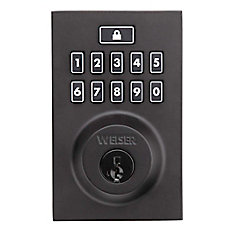 Smartcode 10 Keyless Entry Contemporary Deadbolt in Black