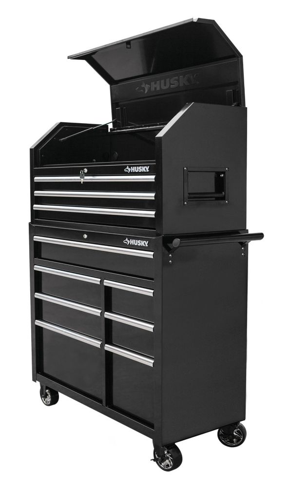 Husky 42-inch 10-Drawer Tool Chest and Cabinet Set PKT2510