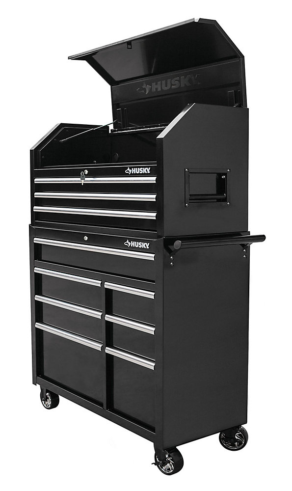 Husky 42 Inch 10 Drawer Tool Chest And Cabinet Set The