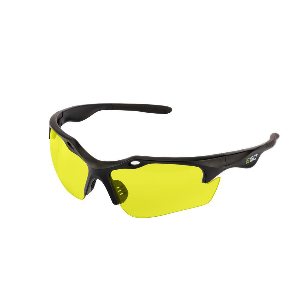 EGO Anti-Scratch Safety Glasses with Yellow Lenses