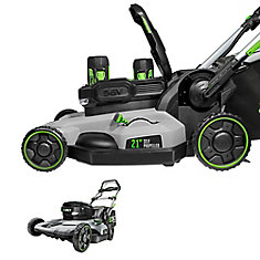 21 inch Self Propelled Mower w/ (2) 5.0Ah Batteries & Rapid Charger