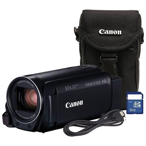 Canon VIXIA HF R800 Camcorder Bundle with Case and 8GB SD Card
