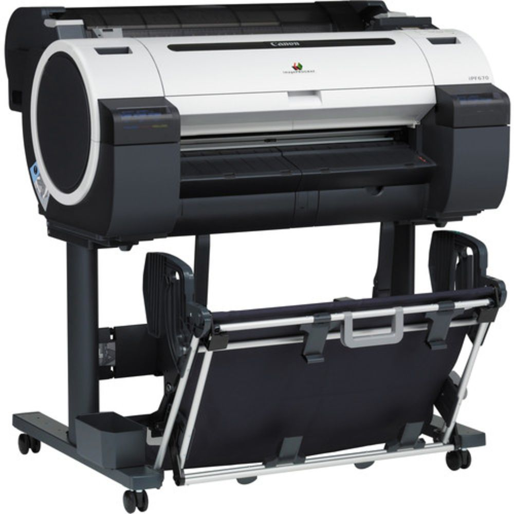 Canon ImagePROGRAF iPF670 with Stand Large Format Printer