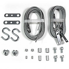 Garage door extension & safety cables replacement set