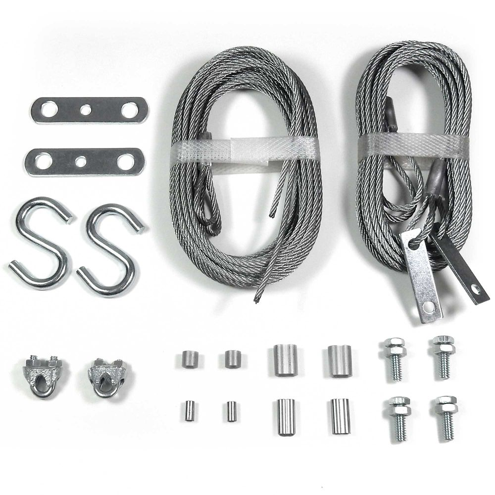 Ideal Security Garage door extension & safety cables replacement set